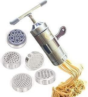 Hewnda Stainless Steel Pasta Maker 5 Noodles Mold Pasta Maker Citrus Juicer