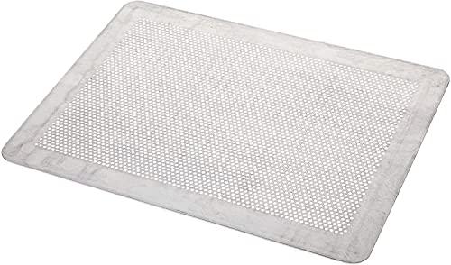 Mali's 43034 - Placa para repostería perforada plana aluminio sin bordes (40 x 30 cm), color gris