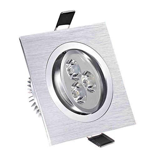 Lámpara empotrada LED 3W 5W 7W Lámpara de iluminación puntual cuadrada AC110V 240VLuces empotradas Luz LED para gabinete silver-Warm_white_7W