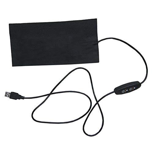NAKELUCY Cinturón de Refuerzo de Cintura calentado Alimentado por USB de 5V, Almohadilla de calefacción eléctrica de Cintura portátil Película calefactora de Cintura, película de Calentamiento rápido