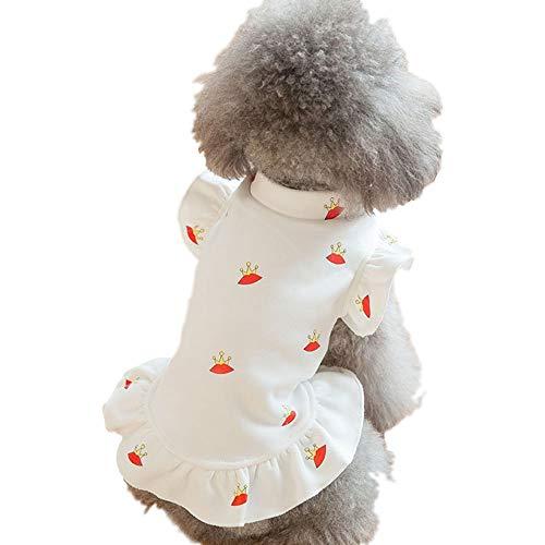 Elvoo Amor ropa de moda Oso de peluche Xiong Bomei ropa para perros pequeños Sección delgada otoño para mascotas Princesa vestir ropa ropa para ropa Ropa para vestir ropa para mascotas