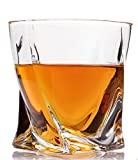 Vogue Whiskey Glasses Luxury Gift Box Set of 4. Lead Free Modern Crystal