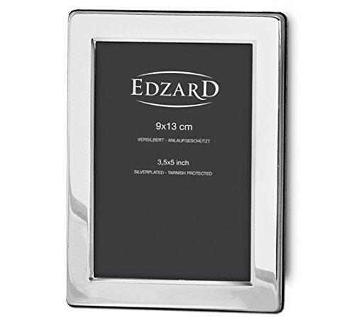 EDZARD Fotorahmen Salerno für Foto 9 x 13 cm, edel versilbert, anlaufgeschützt