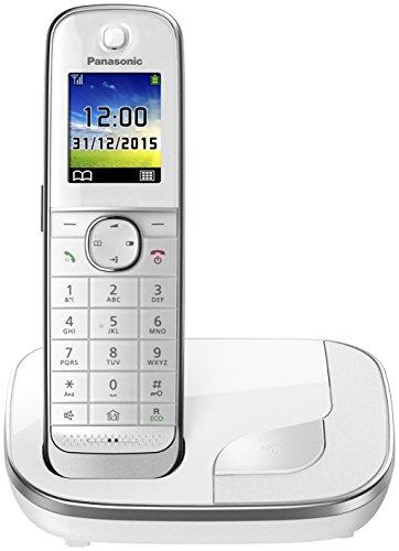 Panasonic KX-TGJ310GW Familien-Telefon mit Anrufbeantworter/ DECT Basisstation, schnurloses Telefon, strahlungsarm, weiß