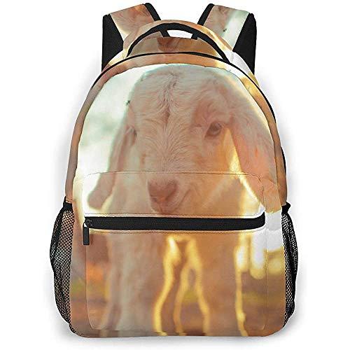 Mochila Escola,Mochilas Escolares De Poliéster para Cabras Bebés para Adultos Que Viajan Escalando,40cm(H) x29cm(W)