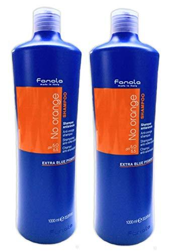 2er No Orange Anto Orange Shampoo Fanola Made in Italy Extra Blue Pigment 1000 ml