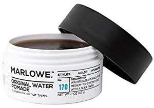 MARLOWE. Original Water Pomade for Men No. 170 | 2 oz | Medium to Strong Hold | Slick Finish | Styles, Holds, & Hydrates with Natural Ingredients | All Hair Types