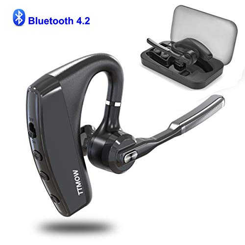 TTMOW Bluetooth Headsets V4.2 Hands Free Wireless Earpiece