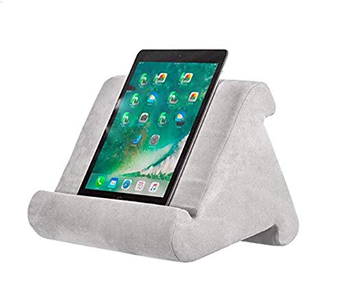 Mylujo Pad Kussen Zachte Pad Leesbeugel voor iPad Telefoon Laptop Computer Ondersteuning grijs