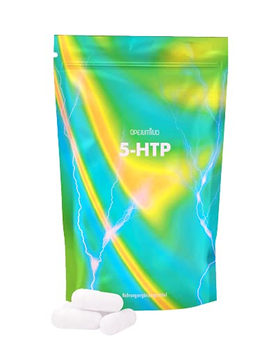 Suppleminds 5-HTP | Serotonin-Booster - Griffonia-Samen Extrakt | für gute Stimmung & erholsamen Schlaf, 180 Kapseln