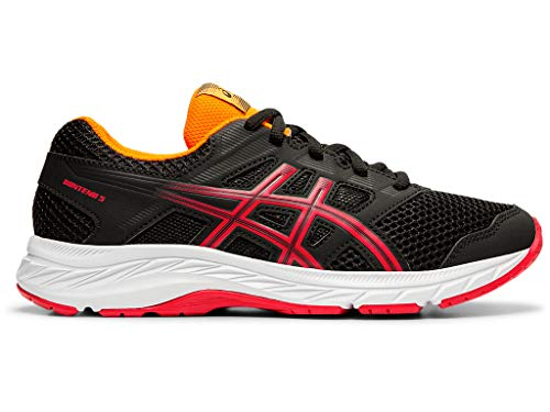 ASICS Kid's Gel-Contend 5 GS Running Shoes, 4, Black/Speed RED