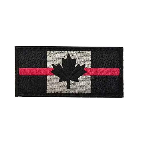 Patch drapeau canada avec crochet et boucle au dos pour pompiers et ambulanciers