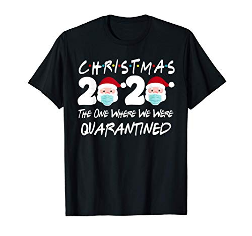 Christmas 2020 Quarantine Christmas Santa Face Wearing Mask T-Shirt