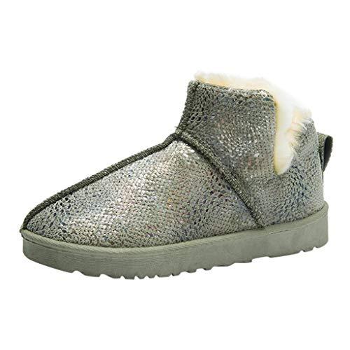 Posional Botas De Nieve Invierno Mujer Cortas CáLidas Fondo Grueso Zapatos De AlgodóN Antideslizante Planas Calzado Informal Con Cremallera Hebilla Botines Nieve Sin Cordones