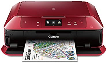 Canon MG7720 Wireless All-In-One Printer with Scanner and Copier: Mobile and Tablet Printing, with Airprint and Google Cloud Print compatible, Red