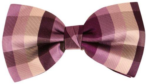 Knightsbridge Neckwear Purple Squares Silk cravate de