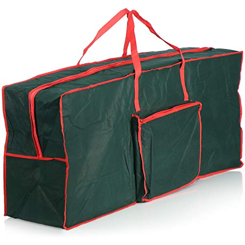 com-four® Weihnachtsbaumtasche - Aufbewahrungstasche für den Christbaum - Tannenbaumhülle - Weihnachtsbaumhülle zur Lagerung und Aufbewahrung - 125x30x50 cm (125x30x50cm)