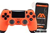Smart Soft Touch Orange Ps4 PS4 PRO Rapid Fire Custom Modded Controller for All Major Shooter Games, Warzone & More (CUH-ZCT2U)