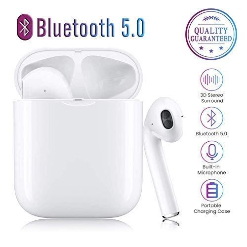 /écouteurs Sportifs avec IPX5 /Écouteurs st/ér/éo TWS /étanches dans loreille Int/égr/é HD Mic Casques pour iPhone Android//Airpods /Écouteurs sans Fil Bluetooth 5.0 avec r/éduction de Bruit