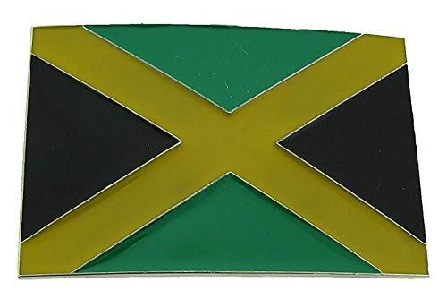 Piratenladen Buckle Jamaika Flagge, Fahne, Reggae, Karibik, Gürtelschnalle