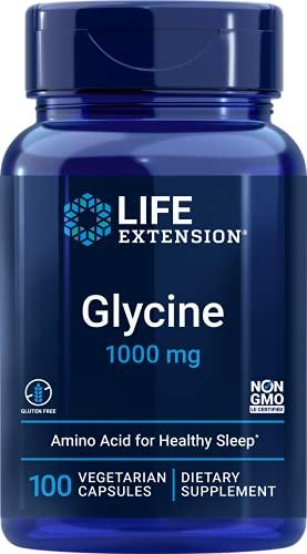 Life Extension, Glicina, 1,000 mg, 100 cápsulas veganas, sin soja, sin gluten