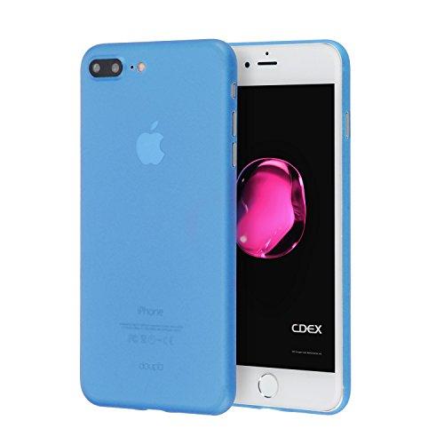 doupi UltraSlim Funda para iPhone 8 Plus / 7 Plus (5,5 Pulgadas), Finamente Estera Ligero Estuche Protección, Azul