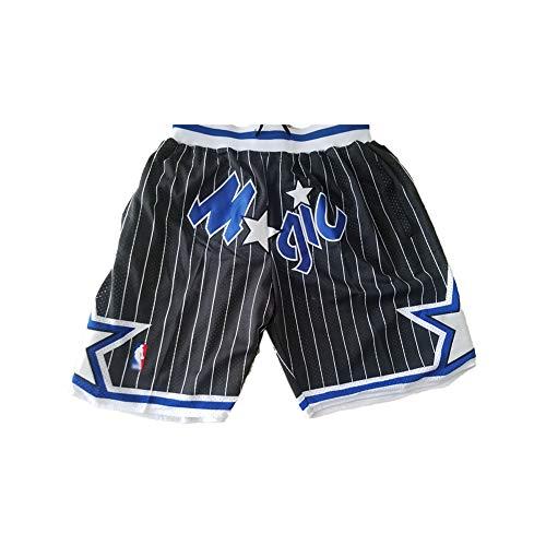 Anfernee Hardaway # 1 Orlando Magic Basketballtrikot, Jugend Herren Fans Gestickte Retro Weste, Sommer Schnelltrocknende atmungsaktive Mesh Sweatshirt Shorts (S-2XL)-Black B-XL