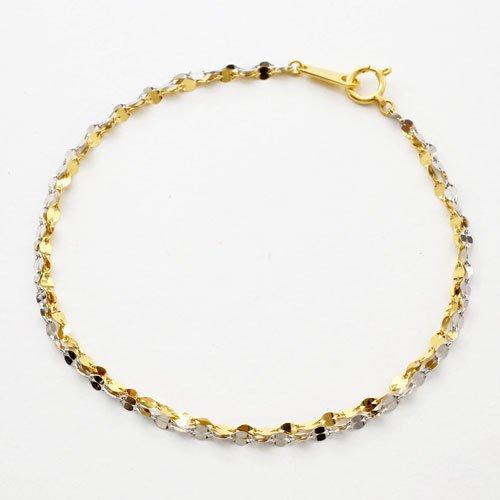 純金 純プラチナ ブレスレット ペダル 2連仕様 コンビ ブレス