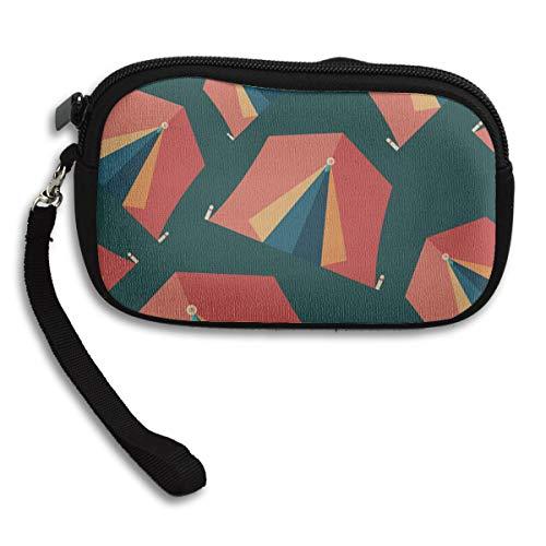 Kosmetiktasche für Frauen Schöne Mobilheim Werkzeug Zelt Camping Neopren Mädchen Wristlet Brieftasche Kosmetiktasche für Männer Münzen Tasche mit Riemen 6x3.7x0.2inch Für Erwachsene Mädchen Frauen Ki