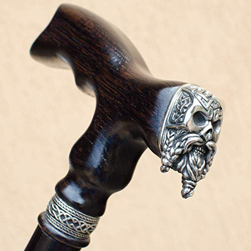 Celtic Skull Walking Cane for Men Fashionable Fancy Wooden Canes Designer Mens Walking Sticks - Custom Length