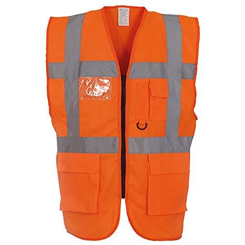 Yoko - Gilet Alta visibilità Multi - Tasche (5XL) (Arancione Alta visibilità)