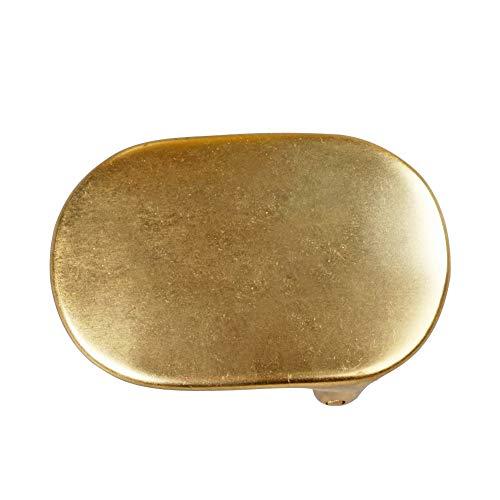 WUTA Men/Women's Solid Brass Belt Buckle Strap Center Pin Style Heel Bar DIY Leathercraft Hardware (Style #014, 35.3 mm Inner Width)
