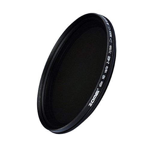 ND2-400 Neuer ZOMEi 72mm Ultra Slim ND2-ND400 Fader Variable Neutraldichte Einstellbarer Objektivfilter Ultra Slim ND-Filter Optisches Glas