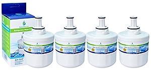 4x AH-S3F filtre à eau compatible pour Samsung réfrigérateur DA29-00003F, HAFIN1/EXP, DA97-06317A-B, Aqua-Pure Plus, DA29-00003A, DA29-00003B