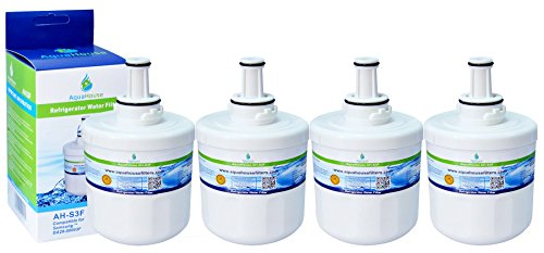 4x AH-S3F filtro de agua compatibles para Samsung nevera DA29-00003F, HAFIN1/EXP, DA97-06317A-B, Aqua-Pure Plus, DA29-00003A, DA29-00003B