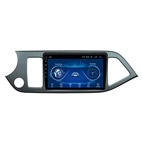 KLL Sistema de Receptor de Audio 2 DIN Android para Kia PICANTO 2011-2014 Pantalla táctil 2.5D Manos Libres del Bluetooth Controles del Volante Entrada Aux/CAM/DVR,WiFi,2+32G