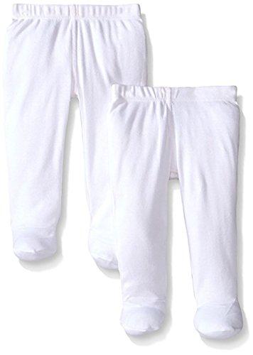 Monvecle, confezione regalo di pantaloni lunghi e corti unisex per neonati e bambini, 5pezzi, in cotone 2 Pack - White 1 mese