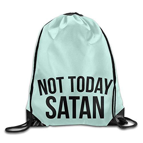 Etryrt Prämie Turnbeutel/Sportbeutel, Not Today Satan Black Design Font Kids Sack Bag Canvas Bag Drawstring Bag Design