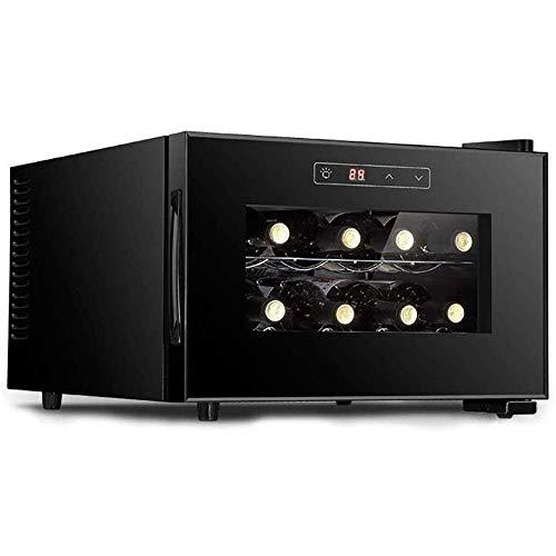 Refrigerador de Vino Vertical pequeño, Mini gabinete/Enfriador de Vino, refrigerador de Funcionamiento silencioso/Vidrio Aislante Doble