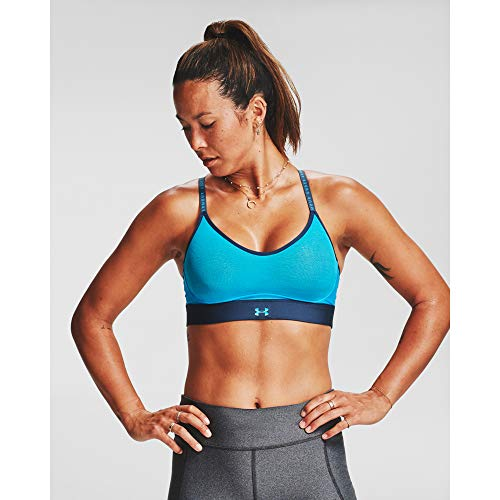Under Armour Damen Sport BH Infinity Low Sport-BH, Blue Topaz/Mechanic Blue/Topaz (431), L, 1351985-431
