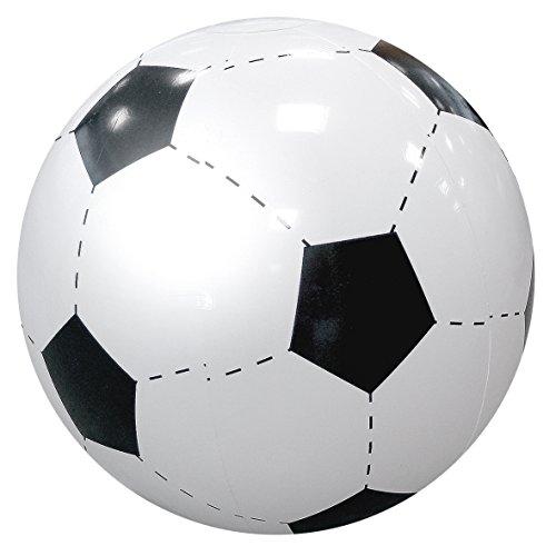 elasto Wasserball Fußball Strandball Ø 40cm Aufblasbar Beachball Dekoartikel Soccer-Design