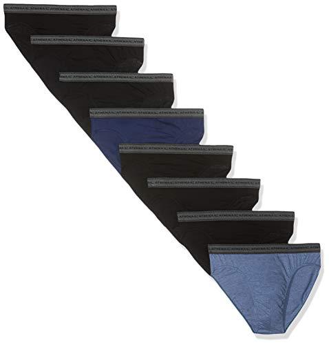 Athena Promo Maxi Lots, Mini Prix, Lots de 8 Slips Basic Coton, Homme, Multicolore, XX-Large (Taille Fabricant:6)