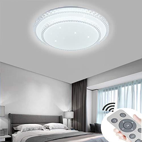 MIWOOHO 90W LED Kristall Deckenleuchte Modern Deckenlampe Schlafzimmer Küche Flur Wohnzimmer Lampe Dimmbar(3000K-6500K)[Energieklasse A++]