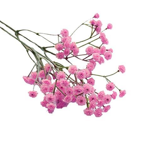 Andouy Künstlich Baby Atmen Blume DIY Fälschung Gypsophila Blumenstrauß Arrangieren Hochzeit Party Zuhause Dekoration(1 PC.Pink)