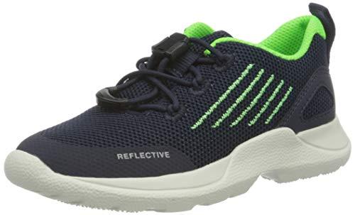 Superfit Jungen Rush Sneaker, Grau (Blau/Grün 80), 33 EU