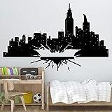 Batman vinyle autocollant mural Gotham Skyline affiche murale enfants chambre décoration cadeau chevalier noir autocollant mural vinyle Art décor à la maison autocollant autre couleur 89x57 cm