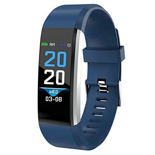 Cebbay Pulse Fitness Tracker con Monitor de Ritmo CardíAco,Reloj de Seguimiento de Actividad,Pulsera Inteligente Resistente Al Agua con Contador de Pasos para Caminar,Contador de Calorias - Azul