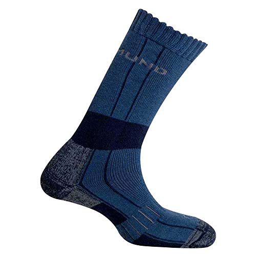 Mund Socks – Himalaya Wool Merino Thermolite, Couleur Bleu, Taille EU 38 – 41