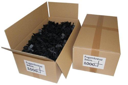 Fugenkreuze 3mm, Bauhöhe 20mm, 1000 Stück im Karton