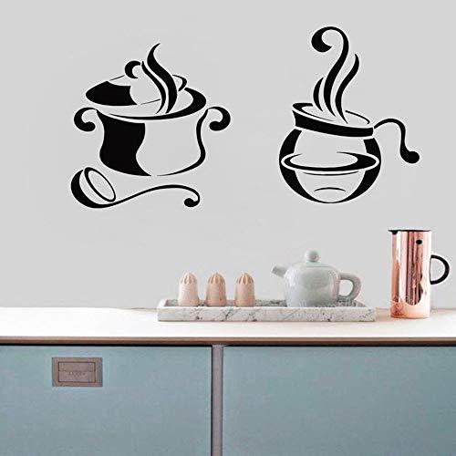 yuandp Keukenmuur kunst mes vork lepel sticker restaurant muursticker keuken wanddecoratie grappig leven sticker decoratie muurschildering 57X30cm AB